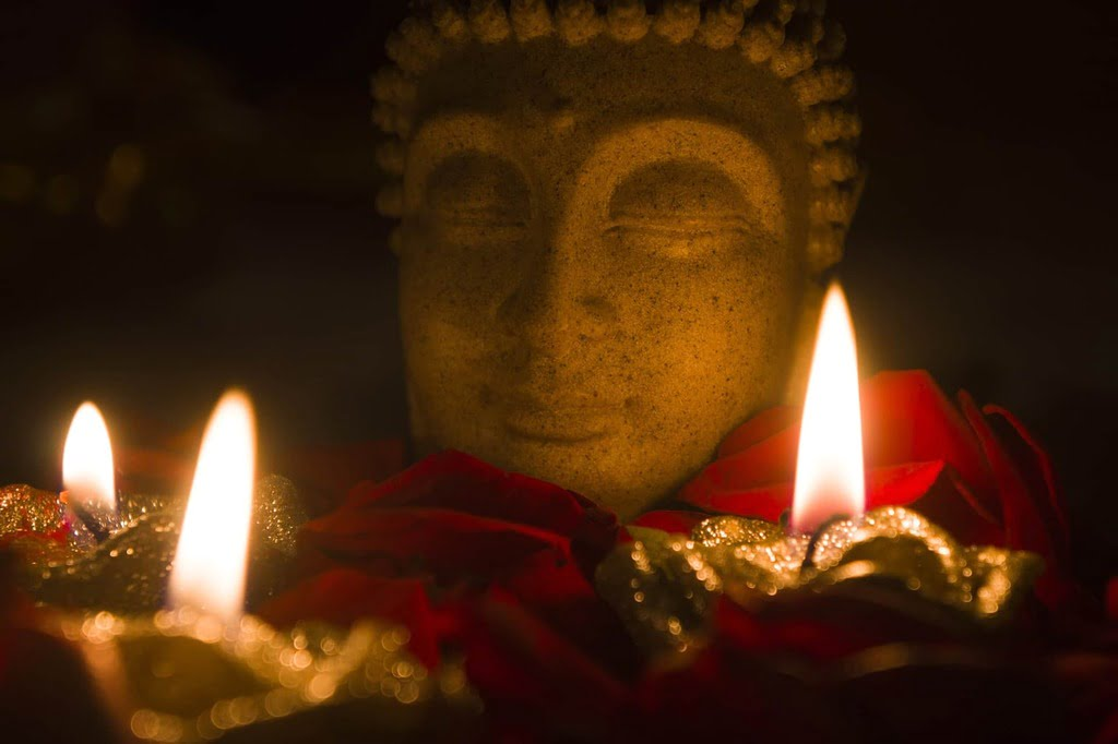 Le 3ième oeil est souvent représenté sur le visage des Bouddhas
